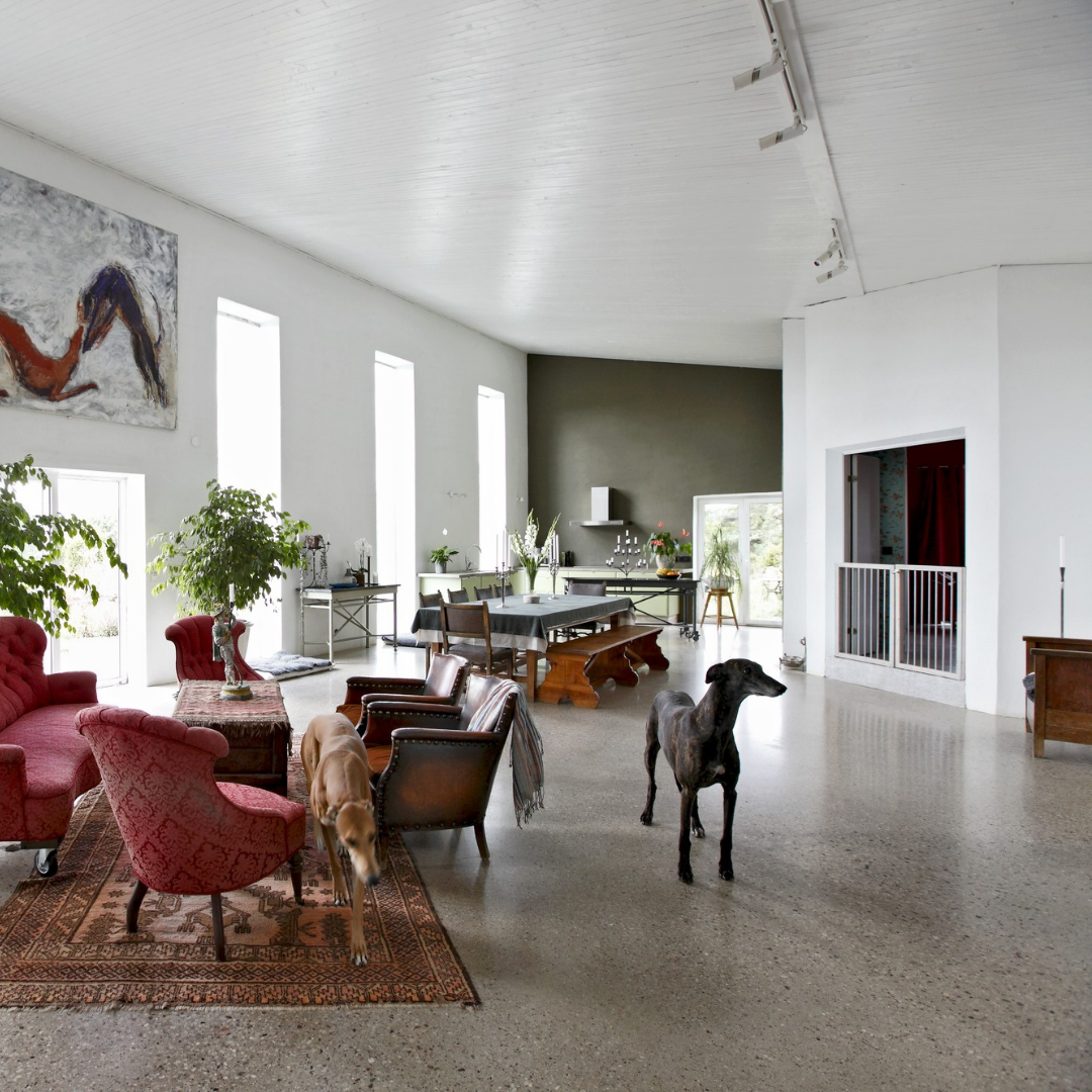 Betonschleifen Wohnzimmer